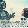 Arwen and Darth Vader